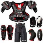 hockey shoulder pads gloves pants knee pads elbow pads sports raders duncan bc